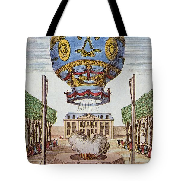 Montgolfier Hot Air Balloon Tote Bag by Science Source