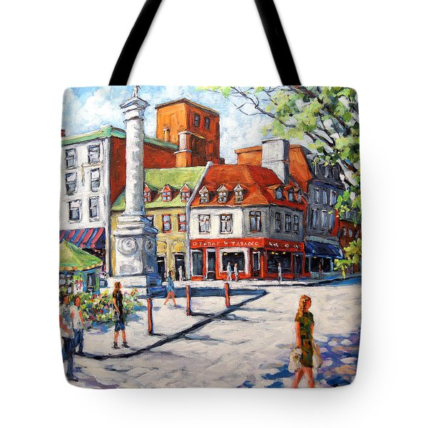 Montreal Street Urban Scene By Prankearts Tote Bag by Richard T Pranke