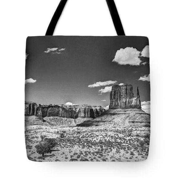 Monument Valley In Monochrome  Tote Bag by Saija  Lehtonen