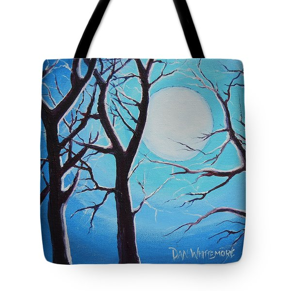 Tote Bag featuring the painting Moon Light by Dan Whittemore