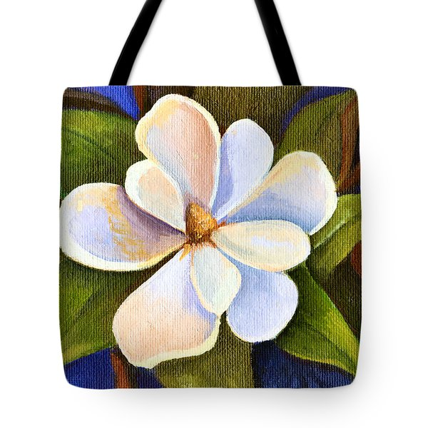 Moon Light Magnolia Tote Bag by Elaine Hodges