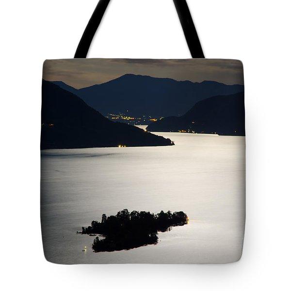 Moon Light Over Islands Tote Bag