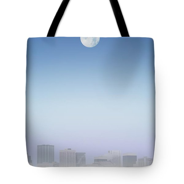 Moon Over Buildings Tote Bag by Kelly Redinger