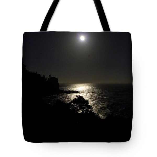Tote Bag featuring the photograph Moon Over Dor by Brent L Ander