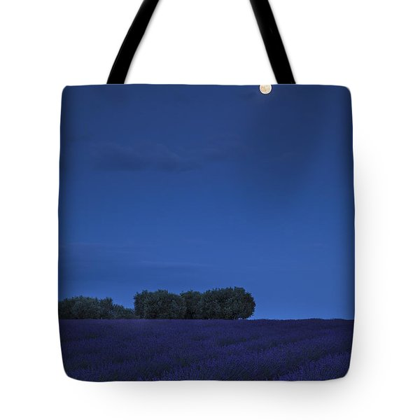 Moon Over Lavender Tote Bag by Brian Jannsen