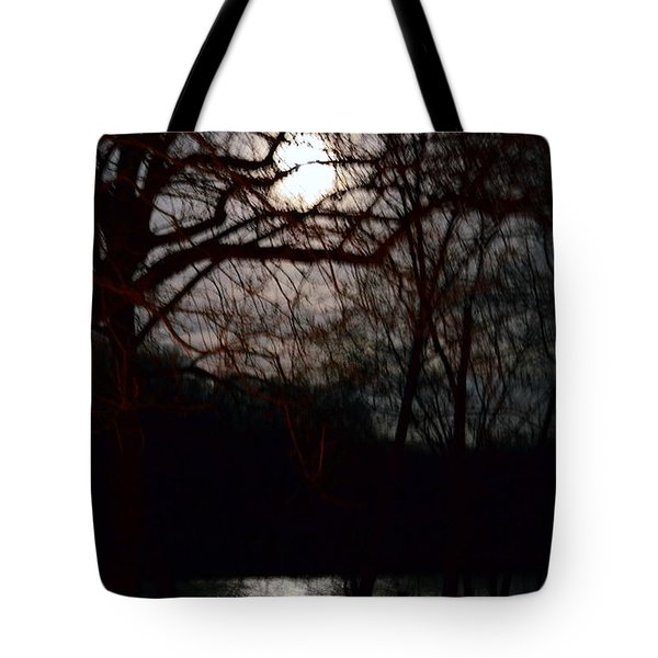 Tote Bag featuring the photograph Moon Over Maury by Cathy Shiflett