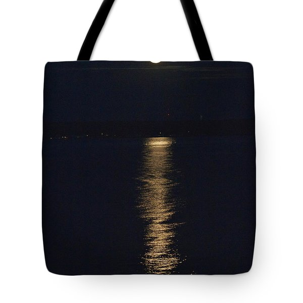 Moon Over Seneca Lake Tote Bag by William Norton