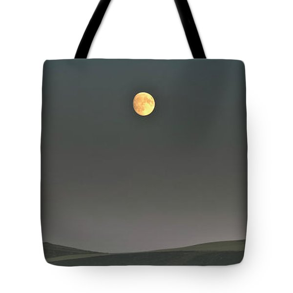 Moon Over The Palouse Tote Bag by Albert Seger