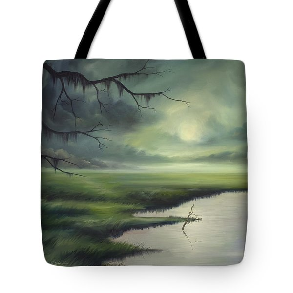 Moon Over Wadmalaw Island  Tote Bag by James Christopher Hill