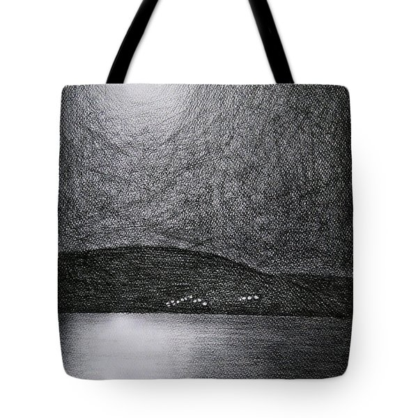 Moon Reflection On The Sea Tote Bag