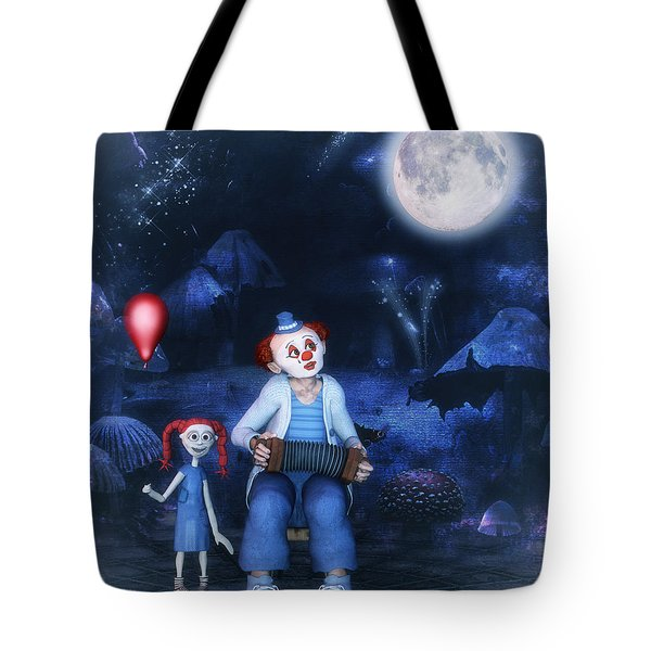 Moon Song Tote Bag by Jutta Maria Pusl