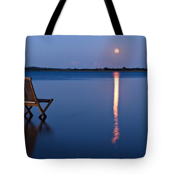 Tote Bag featuring the photograph Moon View by Gert Lavsen