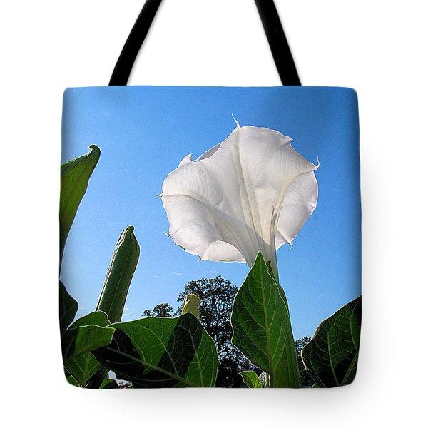 Moonflower Rising Tote Bag by Joyce Dickens