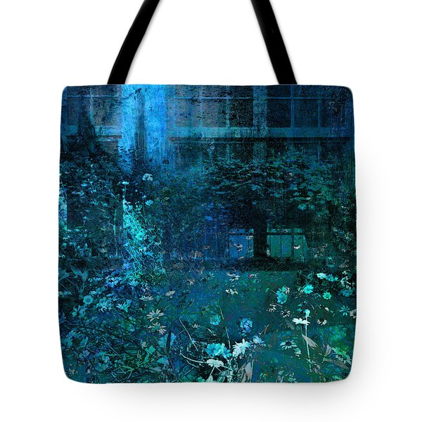 Moonlight In The Garden Tote Bag by Ann Powell
