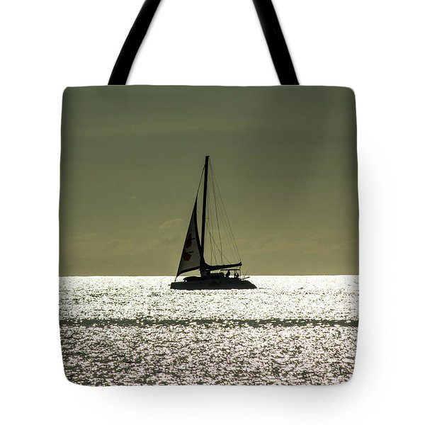 Moonlight Sail Tote Bag by Rene Triay Photography