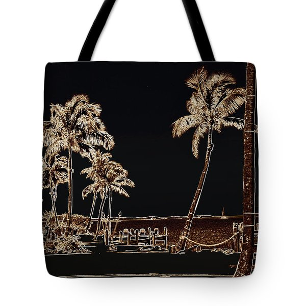 Moonlit Palms Tote Bag by Rene Triay Photography