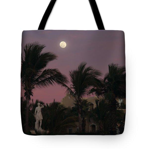 Moonlit Resort Tote Bag