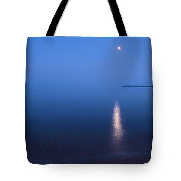 Moonrise On Lake Superior Tote Bag