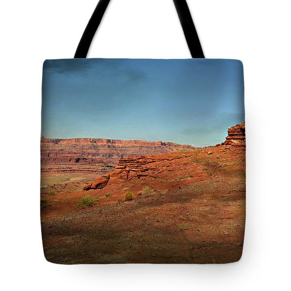 Moonrise On The Mesa Tote Bag by Marty Koch