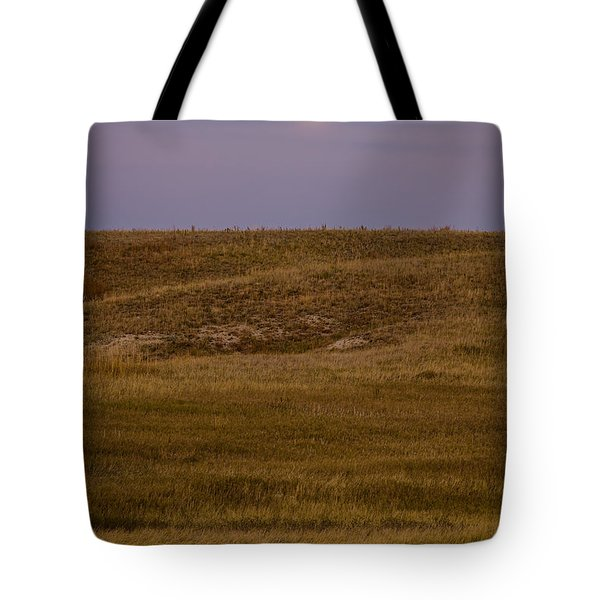 Moonrise Over Badlands South Dakota Tote Bag by Steve Gadomski