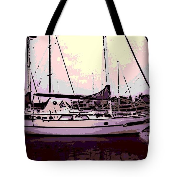 Moored Tote Bag by George Pedro