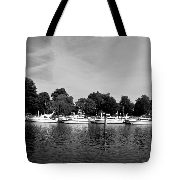 Tote Bag featuring the photograph Mooring Line by Maj Seda
