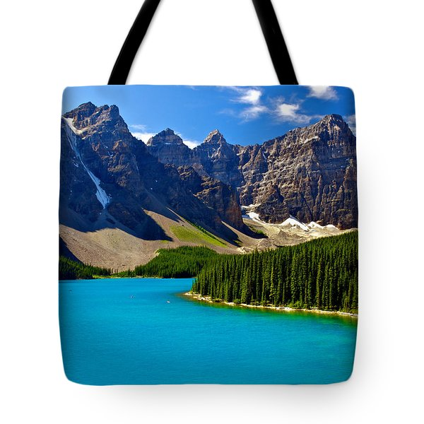 Moraine Lake Tote Bag by James Steinberg and Photo Researchers
