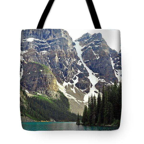 Tote Bag featuring the photograph Moraine Lake by Lisa Phillips