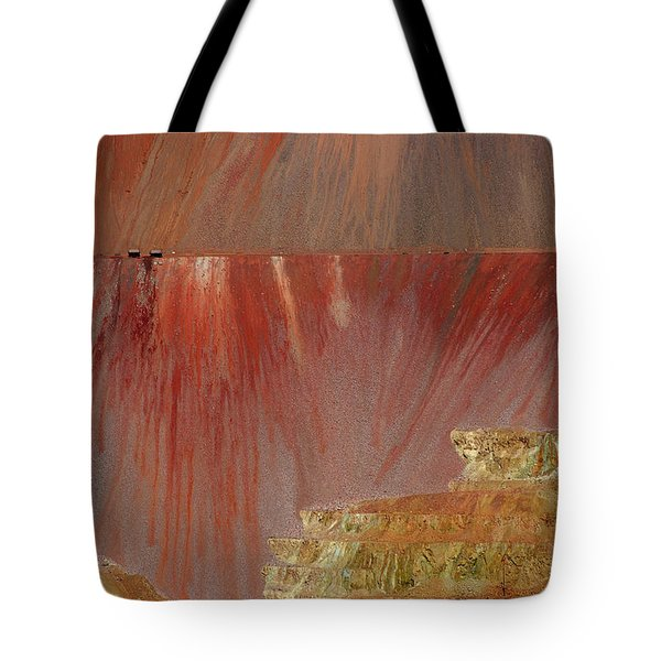 Tote Bag featuring the photograph Morenci Mine by Vicki Pelham