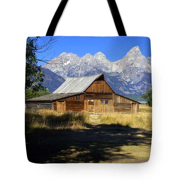 Tote Bag featuring the photograph Mormon Row Barn by Marty Koch