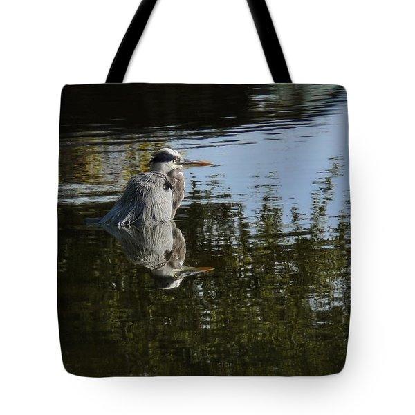 Morning Bath Tote Bag by Steven Sparks