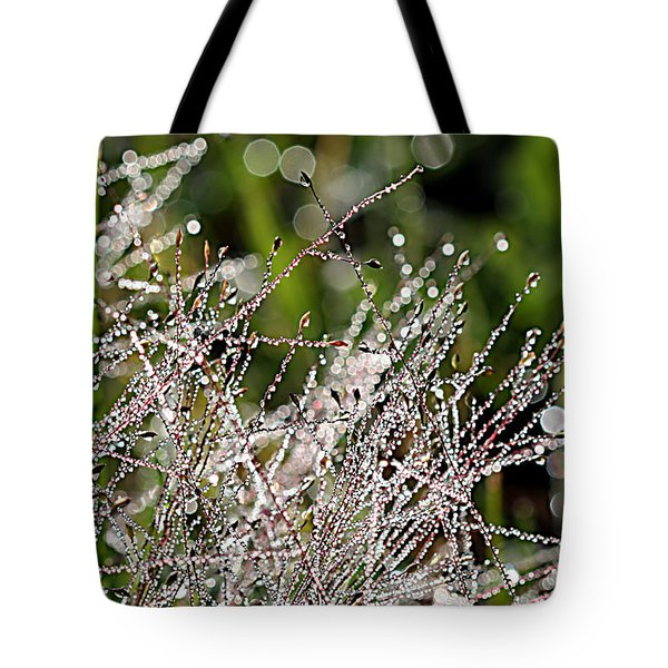 Tote Bag featuring the photograph Morning Dew by Lauren Radke