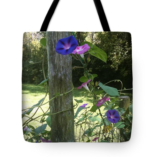 Morning Glory Tote Bag by Janice Spivey