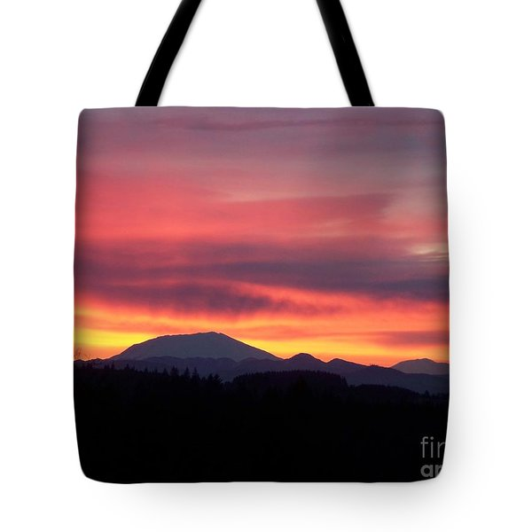 Tote Bag featuring the photograph Morning Glow by Chalet Roome-Rigdon