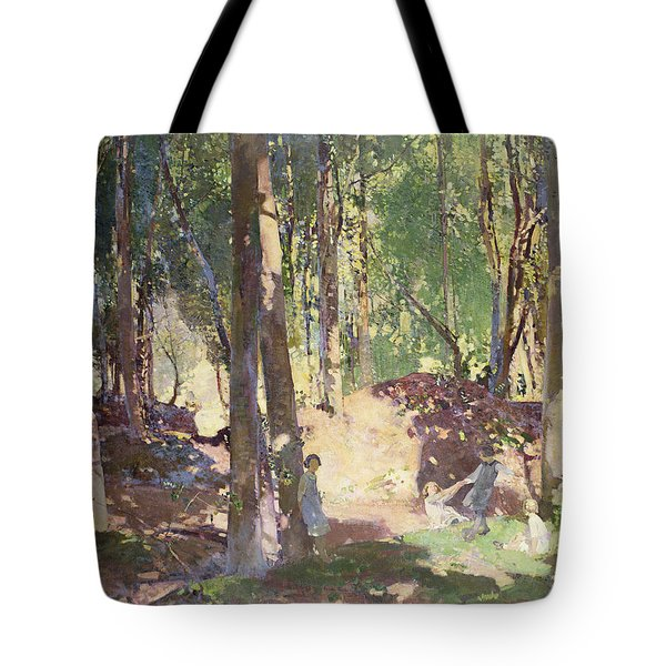 Morning In The Woods Tote Bag by Harry Watson