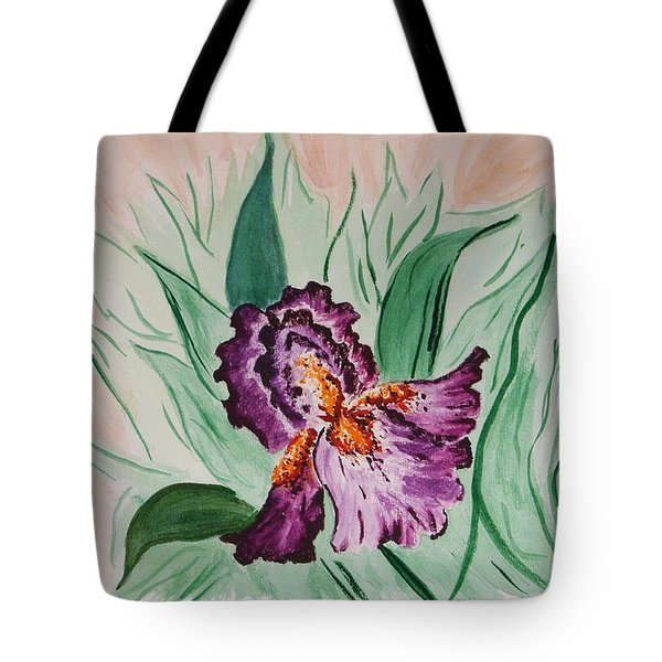 Tote Bag featuring the painting Morning Iris by Cynthia Morgan