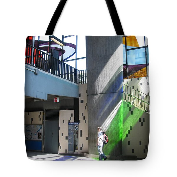 Tote Bag featuring the photograph Morning Light At The Metro by Alfred Ng