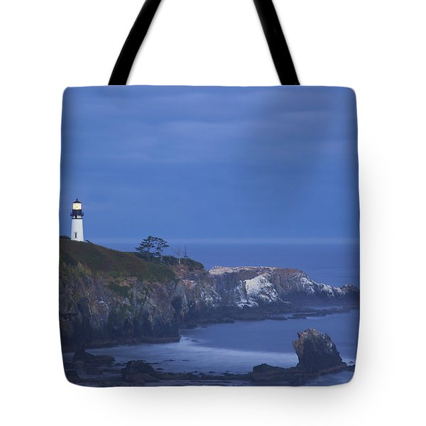 Morning Light Over Yaquina Head Tote Bag by Craig Tuttle