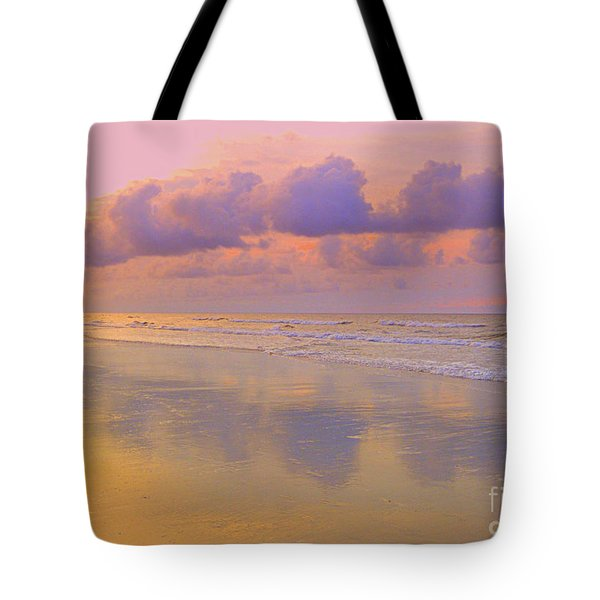 Tote Bag featuring the photograph Morning On The Beach  by Lydia Holly