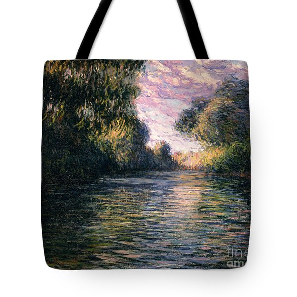 Morning On The Seine Tote Bag by Claude Monet