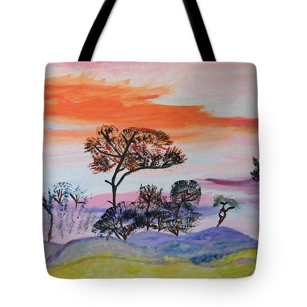 Morning Skies  Tote Bag by Meryl Goudey