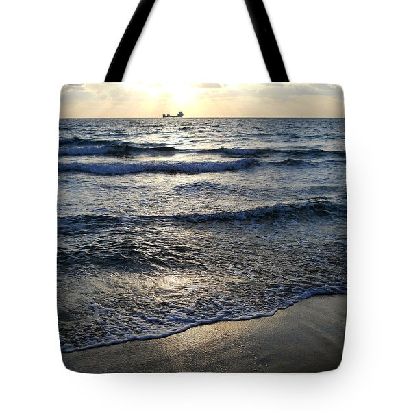 Tote Bag featuring the photograph Morning Surf by Clara Sue Beym