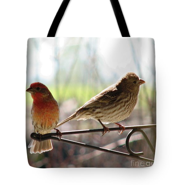 Morning Visitors 2 Tote Bag by Rory Sagner