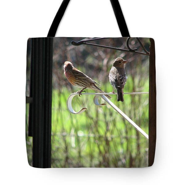 Morning Visitors Tote Bag by Rory Sagner