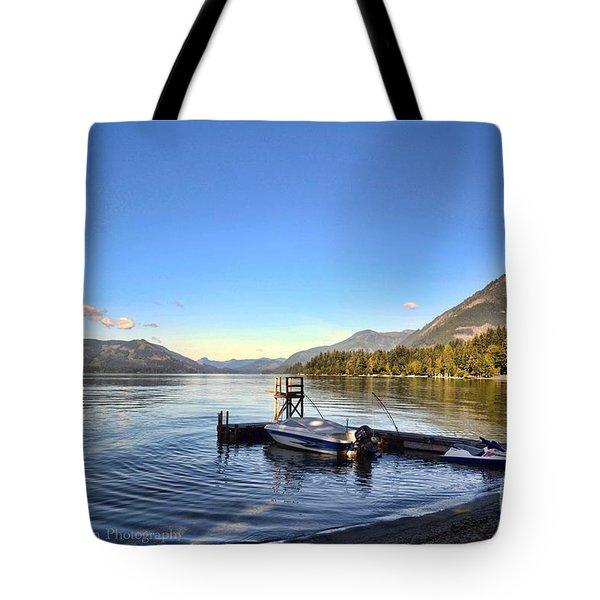 Mornings In British Columbia Tote Bag