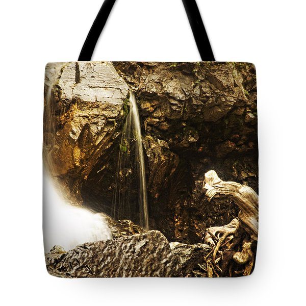 Tote Bag featuring the photograph Morrell Falls 3 by Janie Johnson