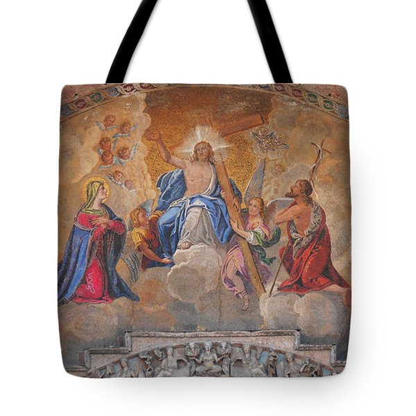 Mosaic In San Marco Square Venice Tote Bag by Bill Cannon