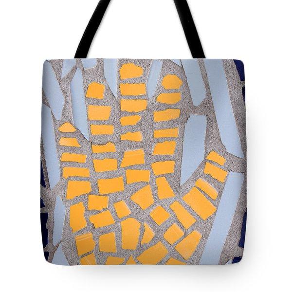 Mosaic Yellow Hand Tote Bag