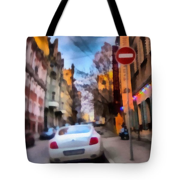 Tote Bag featuring the photograph Moscow's Streets by Michael Goyberg