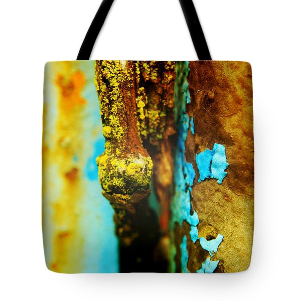 Moss And Rust II Tote Bag by Toni Hopper